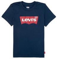 tekstylia Chłopiec T-shirty z krótkim rękawem Levi's BATWING TEE Marine