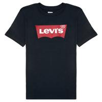 tekstylia Chłopiec T-shirty z krótkim rękawem Levi's BATWING TEE Czarny