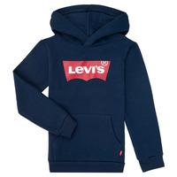 tekstylia Chłopiec Bluzy Levi's BATWING SCREENPRINT HOODIE Marine