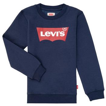 tekstylia Chłopiec Bluzy Levi's BATWING CREWNECK Marine