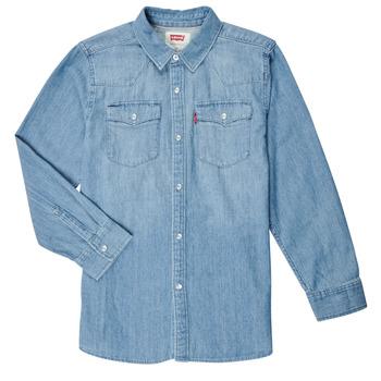 tekstylia Chłopiec Koszule z długim rękawem Levi's BARSTOW WESTERN SHIRT Niebieski