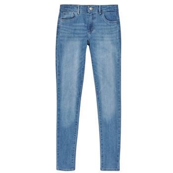 tekstylia Dziewczynka Jeansy skinny Levi's 710 SUPER SKINNY Niebieski