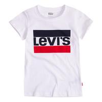 tekstylia Dziewczynka T-shirty z krótkim rękawem Levi's SPORTSWEAR LOGO TEE Biały