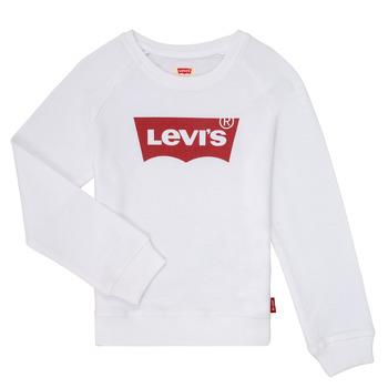 tekstylia Dziewczynka Bluzy Levi's KEY ITEM LOGO CREW Biały