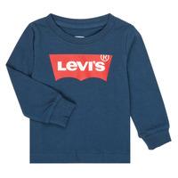 tekstylia Chłopiec T-shirty z długim rękawem Levi's BATWING TEE LS Marine