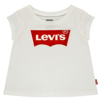 tekstylia Dziewczynka T-shirty z krótkim rękawem Levi's BATWING TEE Biały