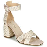 Buty Damskie Sandały Fericelli JEZI Biały / Różowy