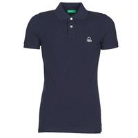 tekstylia Męskie Koszulki polo z krótkim rękawem Benetton  Marine