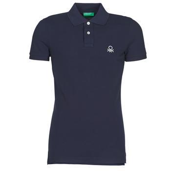 tekstylia Męskie Koszulki polo z krótkim rękawem Benetton MARAKY Marine
