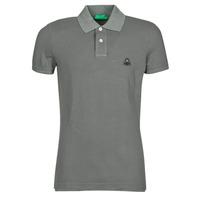 tekstylia Męskie Koszulki polo z krótkim rękawem Benetton MARADI Szary