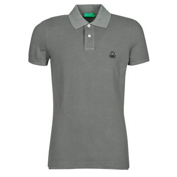 tekstylia Męskie Koszulki polo z krótkim rękawem Benetton  Szary
