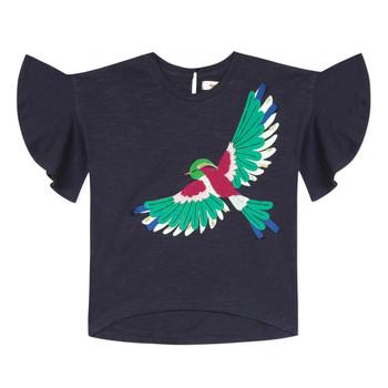 tekstylia Dziewczynka T-shirty z krótkim rękawem Catimini MATIGNON Niebieski