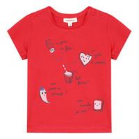 tekstylia Dziewczynka T-shirty z krótkim rękawem Catimini MUSIKOU Czerwony