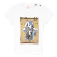 tekstylia Chłopiec T-shirty z krótkim rękawem Catimini LARIBI Biały