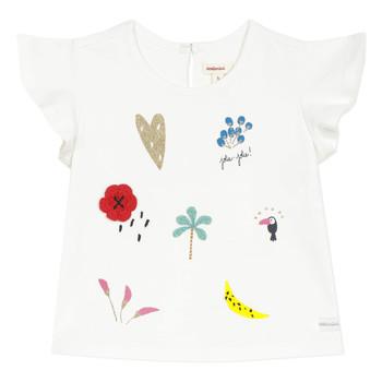 tekstylia Dziewczynka T-shirty z krótkim rękawem Catimini NADEGE Biały