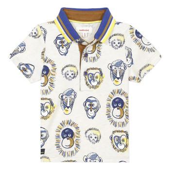 tekstylia Chłopiec Koszulki polo z krótkim rękawem Catimini ANAELE Beżowy