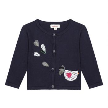 tekstylia Dziewczynka Swetry rozpinane / Kardigany Catimini LOUNA Niebieski