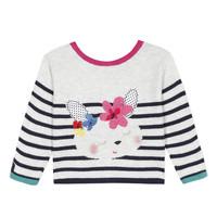 tekstylia Dziewczynka Swetry rozpinane / Kardigany Catimini ALEXIA Biały
