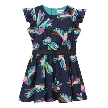 tekstylia Dziewczynka Sukienki krótkie Catimini CESAR Niebieski
