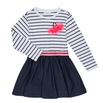 tekstylia Dziewczynka Sukienki krótkie Catimini BASILE Biały
