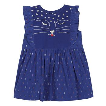 tekstylia Dziewczynka Sukienki krótkie Catimini CHARLES Niebieski