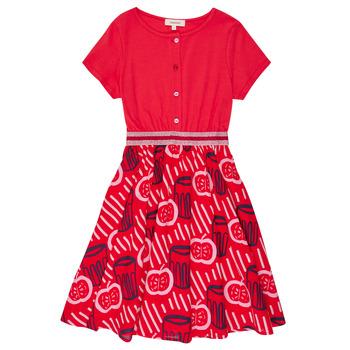 tekstylia Dziewczynka Sukienki krótkie Catimini MANOA Czerwony