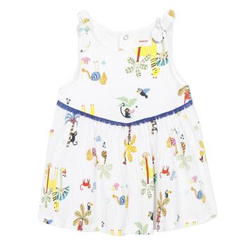 tekstylia Dziewczynka Sukienki krótkie Catimini BIXENTE Biały