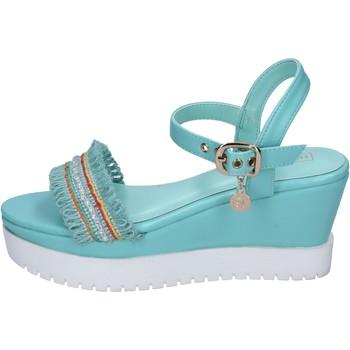 Buty Damskie Sandały Enrico Coveri sandali pelle sintetica tessuto Blu