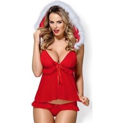 tekstylia Damskie Piżama / koszula nocna Obsessive 851-CST-3 Czerwony