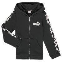 tekstylia Chłopiec Bluzy Puma AMPLI HOOD JKT Czarny