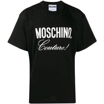 tekstylia Męskie T-shirty z krótkim rękawem Moschino ZA0710 Czarny