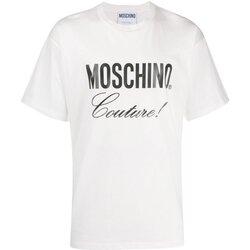 tekstylia Męskie T-shirty z krótkim rękawem Love Moschino ZA0710 Biały