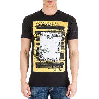 tekstylia Męskie T-shirty z krótkim rękawem Dsquared S71GD0741 Czarny