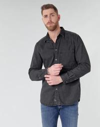 tekstylia Męskie Koszule z długim rękawem Diesel D-BER-P Czarny