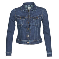 tekstylia Damskie Kurtki jeansowe Lee SLIM RIDER JACKET Niebieski / Marine