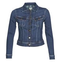 tekstylia Damskie Kurtki jeansowe Lee SLIM RIDER JACKET Dark