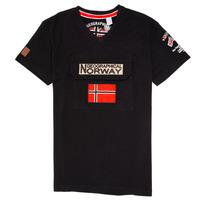 tekstylia Chłopiec T-shirty z krótkim rękawem Geographical Norway JIRI Czarny