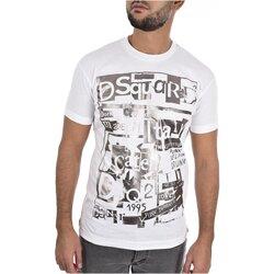 tekstylia Męskie T-shirty z krótkim rękawem Dsquared S74GD0531 Biały
