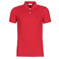 tekstylia Męskie Koszulki polo z krótkim rękawem Selected SLHARO Czerwony