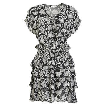 tekstylia Damskie Sukienki krótkie Replay  Czarny / Biały
