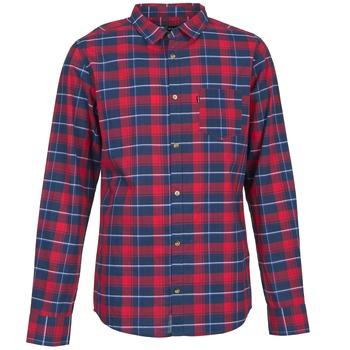 tekstylia Męskie Koszule z długim rękawem Rip Curl CONNECTION Czerwony / Niebieski