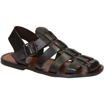 Buty Męskie Sandały Gianluca - L'artigiano Del Cuoio 502 U MORO CUOIO Brązowy