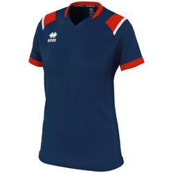tekstylia Damskie T-shirty z krótkim rękawem Errea Maillot femme  lenny bleu/marine/blanc