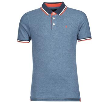 tekstylia Męskie Koszulki polo z krótkim rękawem Jack & Jones JJEPAULOS Niebieski