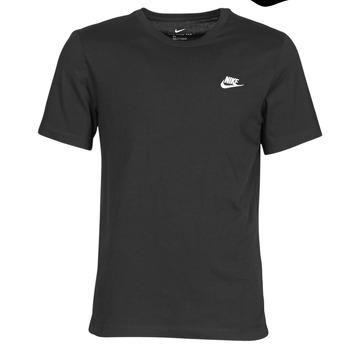 tekstylia Męskie T-shirty z krótkim rękawem Nike M NSW CLUB TEE Czarny / Biały