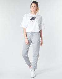 tekstylia Damskie Spodnie dresowe Nike W NSW ESSNTL PANT REG FLC Szary / Biały
