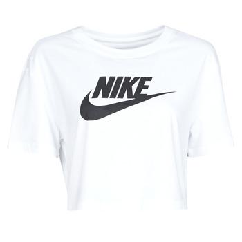 tekstylia Damskie T-shirty z krótkim rękawem Nike W NSW TEE ESSNTL CRP ICN FTR Biały / Czarny