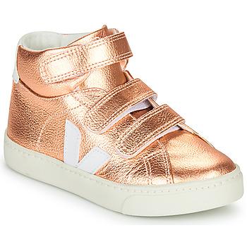 Buty Dziewczynka Trampki wysokie Veja SMALL-ESPLAR-MID Różowy