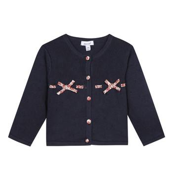 tekstylia Dziewczynka Swetry rozpinane / Kardigany Absorba NOLI Marine