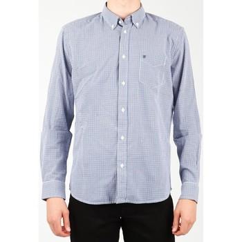 tekstylia Męskie Koszule z długim rękawem Wrangler Koszula  1 PKT Shirt W5929M8DF niebieski, biały